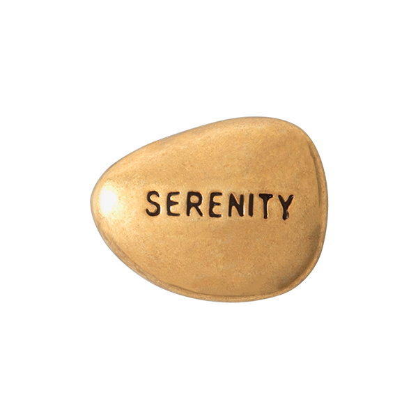 Gold Serenity Intention Rock Charm SKU CH4055