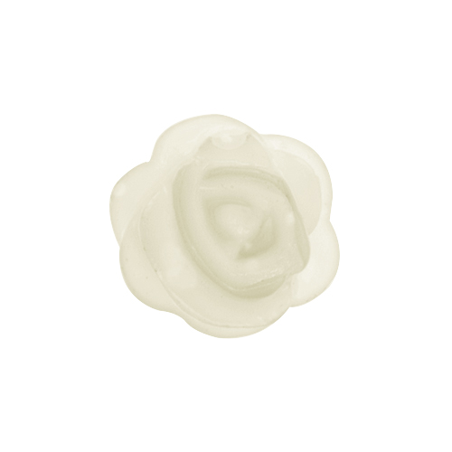 CH4123 Ivory Rose Flower Charm