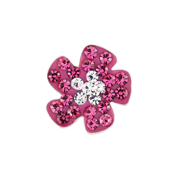 Pink Fun Flower Sparkle Charm SKU CH4155