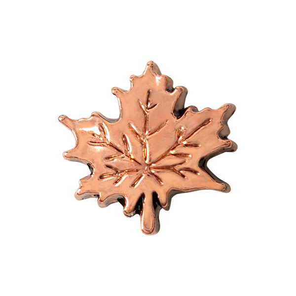 Rose Gold Leaf Charm SKU CH4159