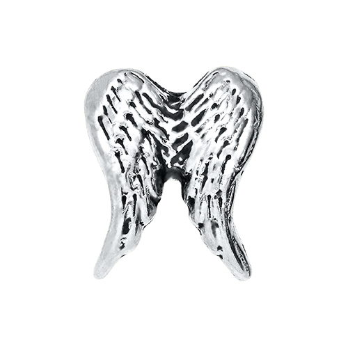 CH5020 Silver Double Angel Wing Charm