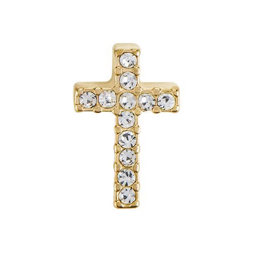CH5032 Gold Crystal Cross Charm1 1 copy