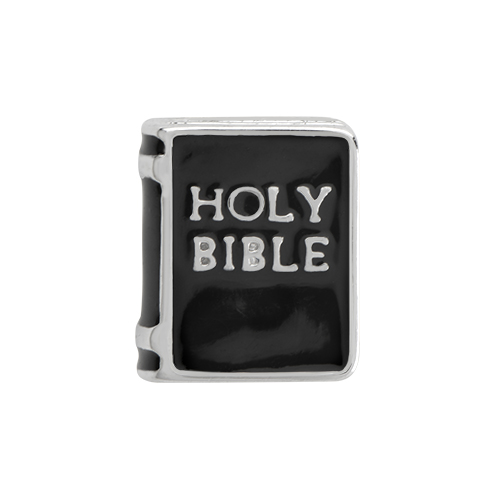 CH5039 Silver Holy Bible Charm FLAT