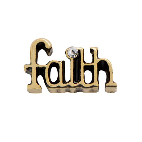 Gold Faith Charm SKU CH5040