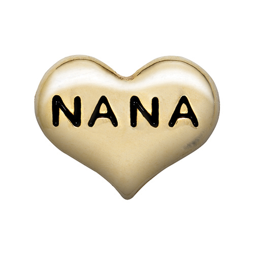 CH6017 Nana Heart in Gold Charm V2
