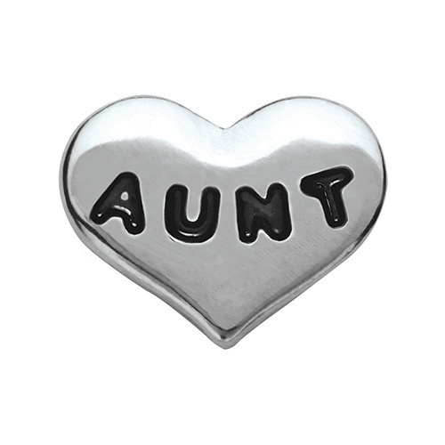 CH6020 Silver Aunt Heart Charm V2