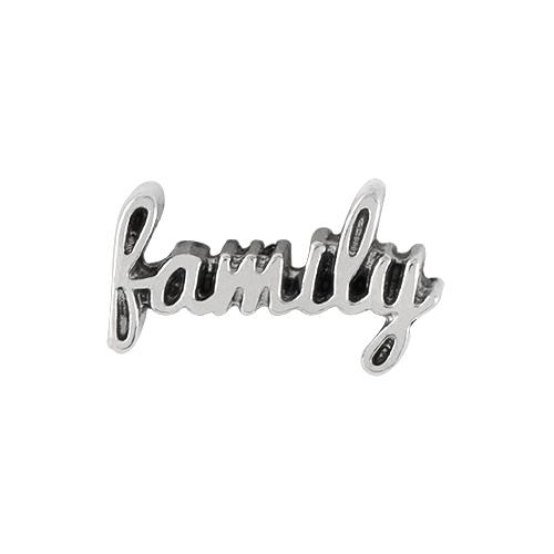 CH6045 Family Script Charm