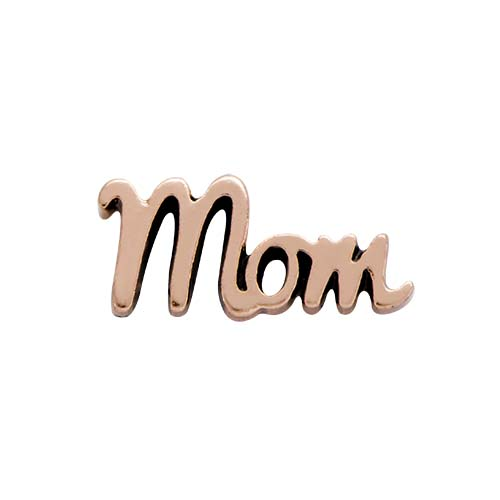 Rose Gold Script Mom Charm SKU CH6059