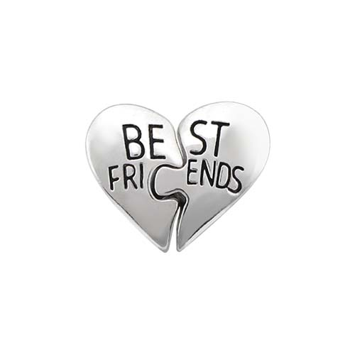 CH6064 Silver Best Friends Pull Apart Heart Charm V1 copy