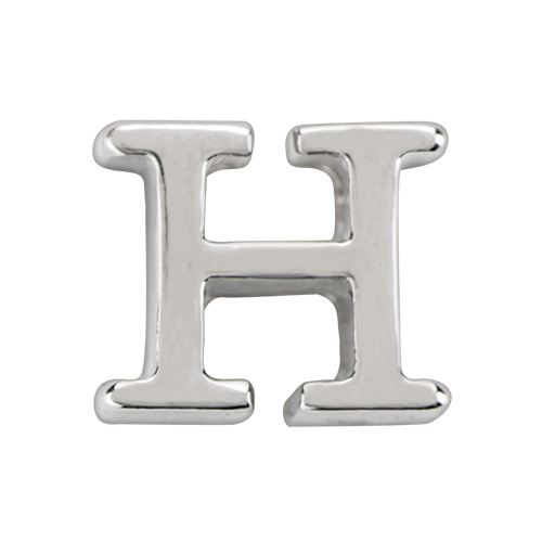 Silver Letter H: Origami Owl Custom Jewelry
