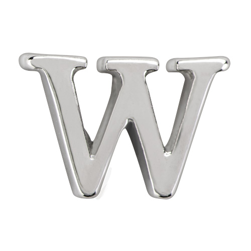CH8075 Silver Letter W Charm copy