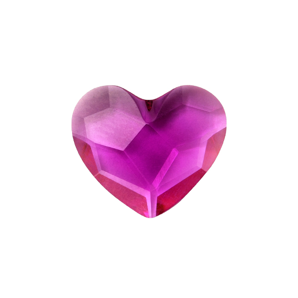 Fuchsia Heart Swarovski Crystal Locket Figurine SKU CH8112