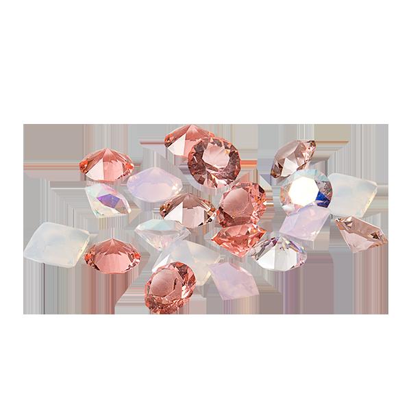 Pink Rose Swarovski Crystals Stardust Pack SKU CH8119