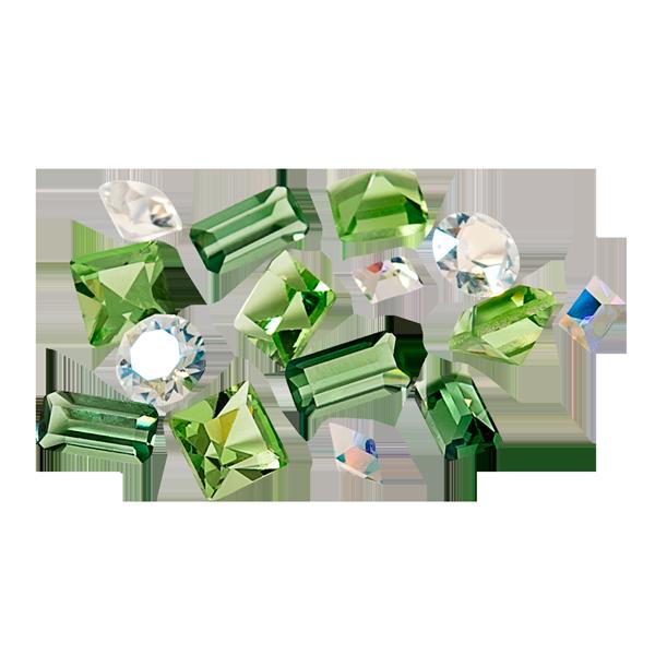 Easter Grass Swarovski Crystals Stardust Pack SKU CH8120