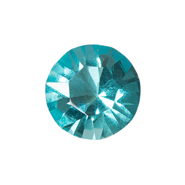 Light Turquoise Round Swarovski Crystal SKU CH8121