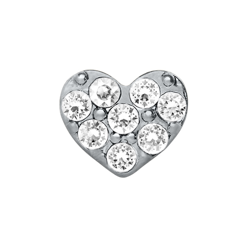 CH9004 Clear Puffy Heart Charm V3