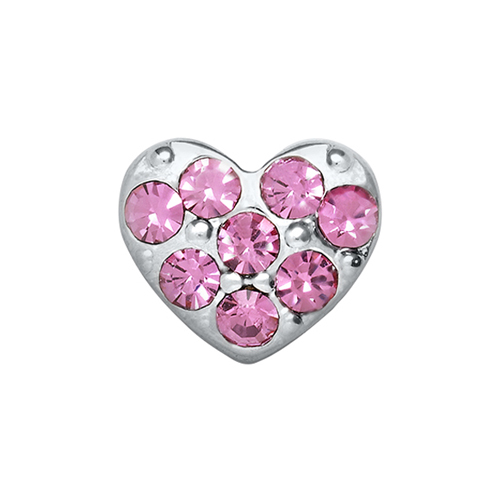 CH9010 Pink Puffy Heart Charm V3