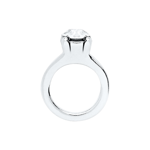 Ch9019 Silver Wedding Ring Charm
