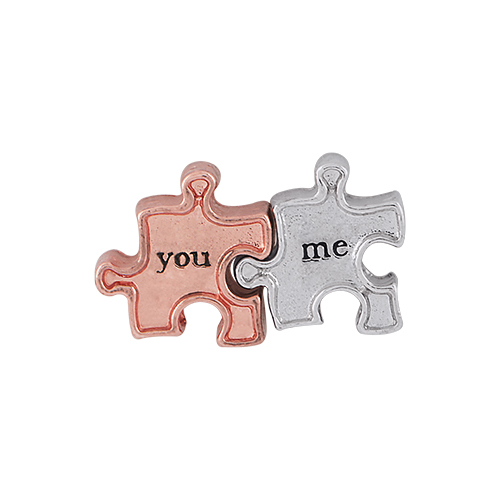 CH9037 You and Me Puzzle Piece Charm