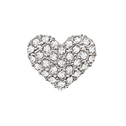 Legacy Pav Heart Charm with Crystals by Swarovski SKU CH9041