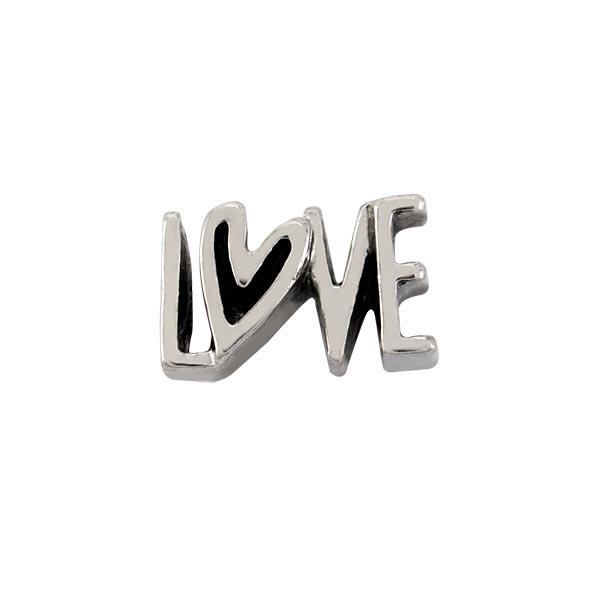 CH9046 Silver Love Heart Charm