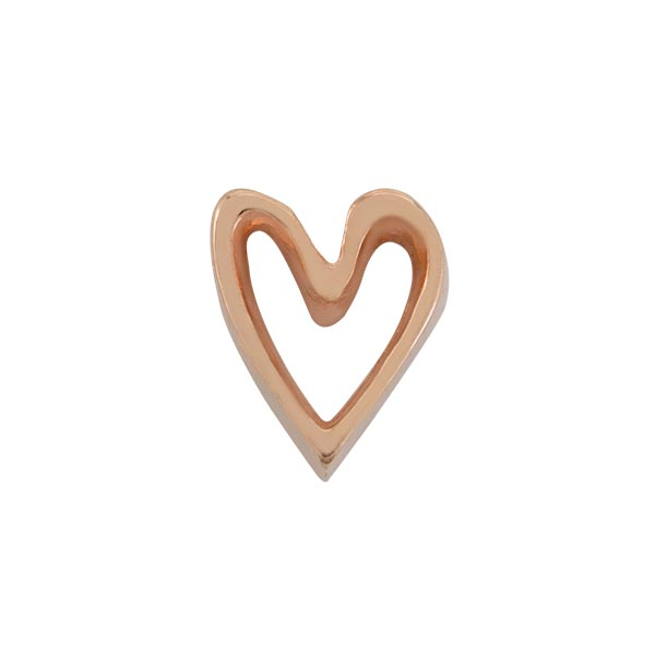 CH9047 Rose Gold Heart Charm