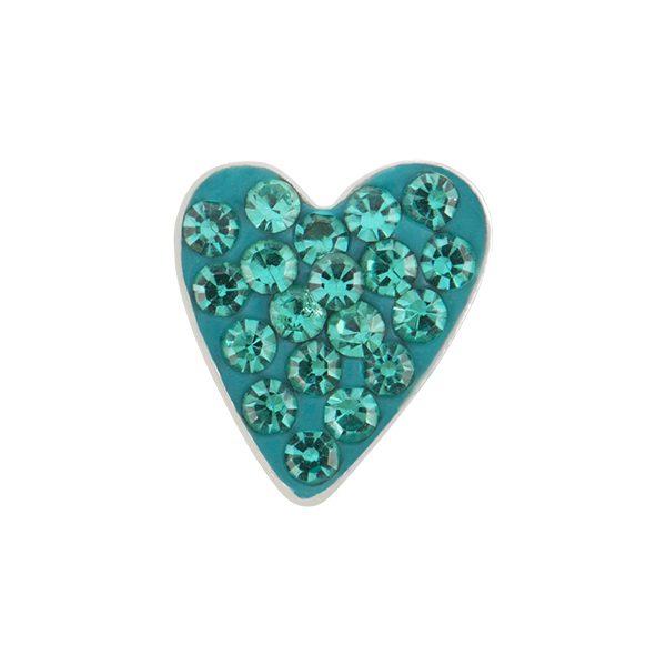 Blue Zircon Heart Sparkle Charm SKU CH9050