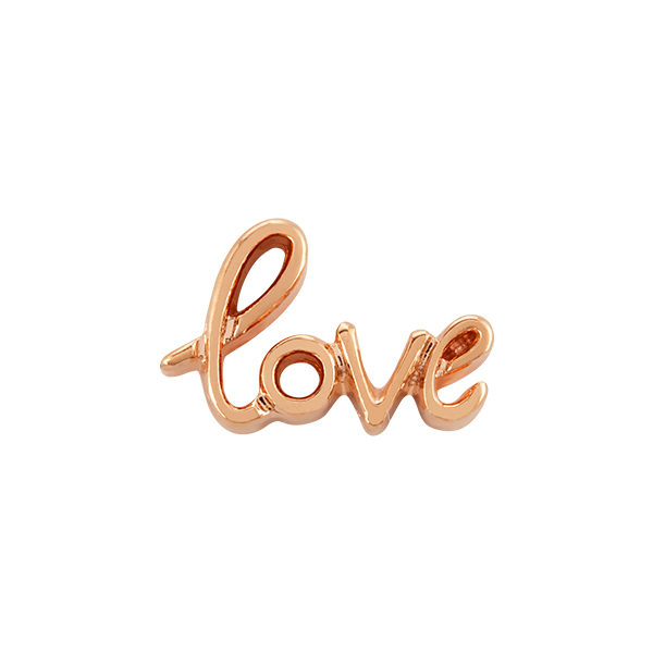 Rose Gold Love Script Charm SKU CH9051