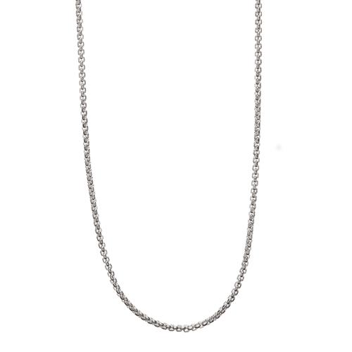 CN3001 24  26  Silver Cube Chain 1