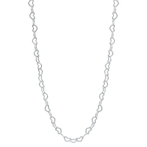 CN4003 16 18  Silver Heart Chain 1