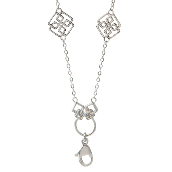 18 36 Silver Greek Key Convertible Chain SKU CN4028