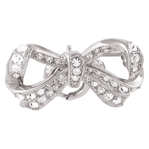 CN5029  Silver Pave Bow Locket Clasp V2