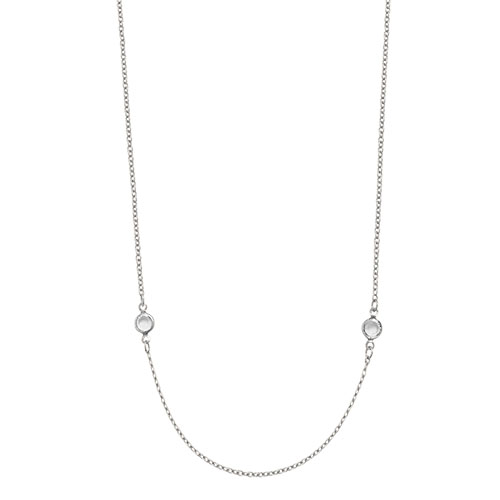 CN5054 48 inch Silver Crystal Station Chain with Swarovski Crystals V1 X1