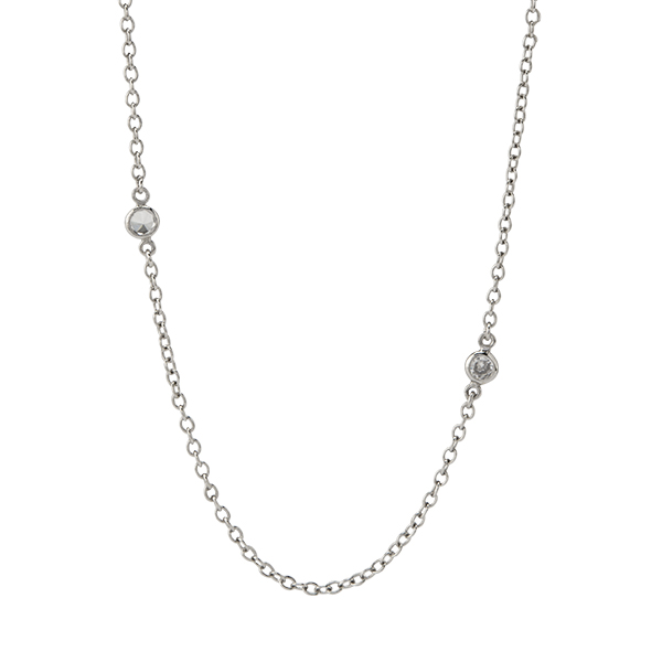 52 Silver Crystal Station Chain SKU CN5071