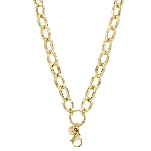 CN6045 Gold Large Oval Chain