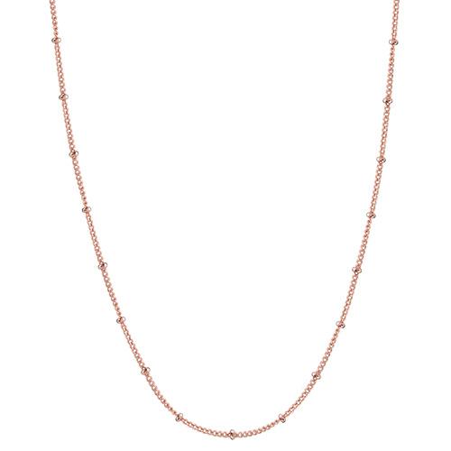 28 30 Rose Gold Ball Station Chain SKU CN7046
