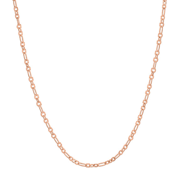 20 22 Rose Gold Dainty Flat Oval Link Chain SKU CN7047