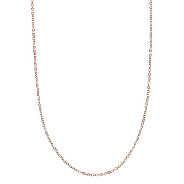 CN7059  RoseGold Dainty Cable Chain