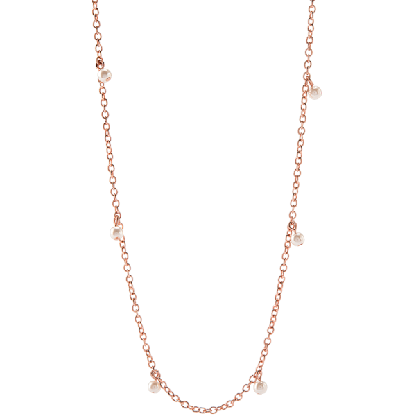 16 19 Rose Gold Dainty Swarovski Pearl Dangle Chain SKU CN7073
