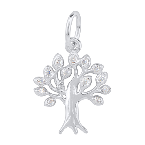 CR1110 Silver Tree Of Life RootsRundeep