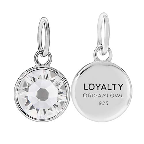 CR1125 Loyalty April Birthstone Clear Swarovski Crystal V2 copy