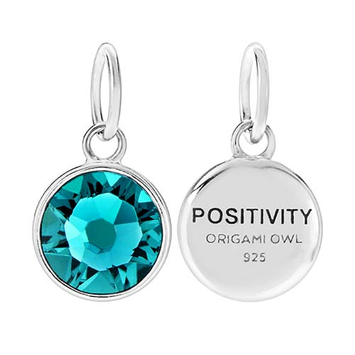CR1127 Positivity December Birthstone Blue Zircon Swarovski Crystal V2 copy