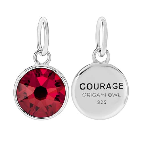 CR1129 Courage January Birthstone Siam Swarovski Crystal V2 copy