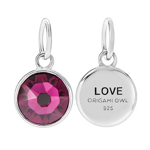 CR1130 Love July Birthstone Ruby Swarovski Crystal V2 copy