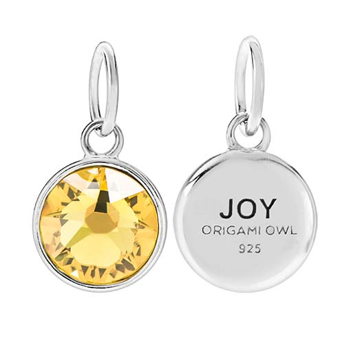 CR1134 Joy November Birthstone Sunflower Swarovski Crystal V1 copy