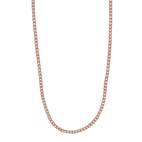 CR2001 24 26  Sterling Silver Chain in Rose Gold