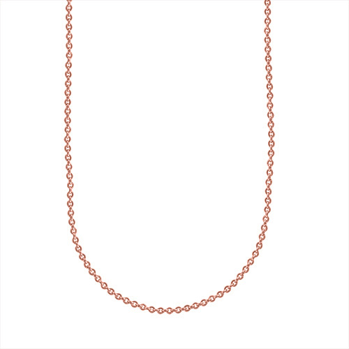 cr2006 16    18  Sterling Silver Chain in Rose Gold