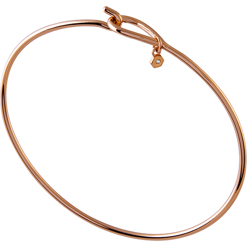 CR3009 Rose Gold Tear Drop Bangle 8