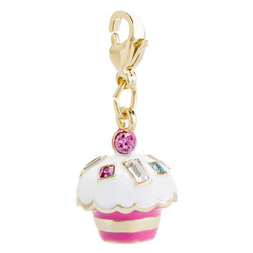 DG4076 Trolls Cupcake Dangle with Swarovski Crystal Sprinkles V2