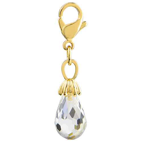 DG7007 Clear Crystal Tear Drop Gold
